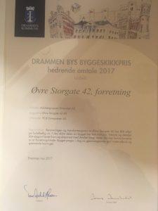 Byggeskikkprisen 2017 hederlig omtale til POB